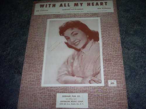 Primary image for With All My Heart Sheet Music Jodie Sands [Sheet music] by JODIE SANDS