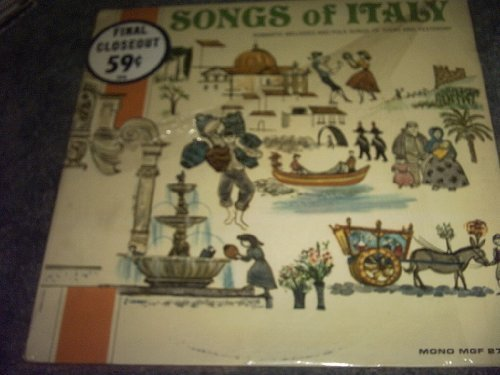 Primary image for Songs of Italy Vinyl Lp Record Album [Vinyl] VARIOUS