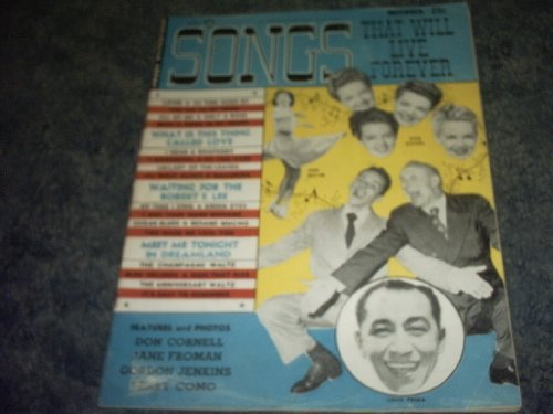 Primary image for November 1952 Songs That Will Live Forever [Single Issue Magazine] by LOUIS P...