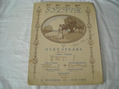 Primary image for SYLVIA OLEY SPEAKS 1914 SHEET MUSIC SHEET MUSIC 277 [Vinyl] SYLVIA OLEY SPEAK...