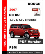 DODGE NITRO 2007 FACTORY SERVICE REPAIR WORKSHOP OEM MAINTENANCE FSM MANUAL - $14.95