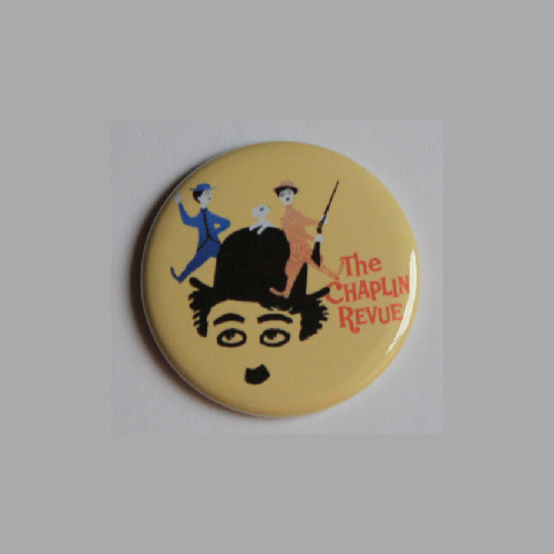 Primary image for CHARLIE CHAPLIN REVUE PIN BUTTON Vintage Classic Film Movie Poster Art Pinback