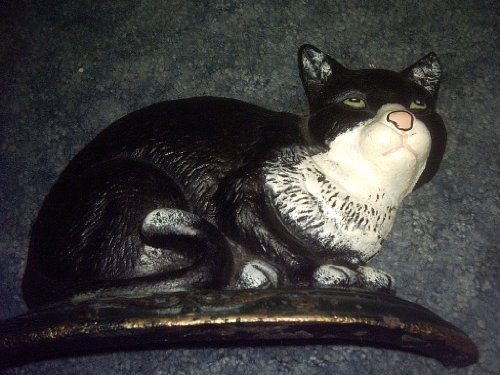 Primary image for Black and White Cat Cast Iron Doorstop