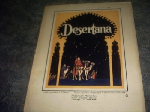 Primary image for Desertana Sheet Music [Sheet music] by HAROLD G FROST
