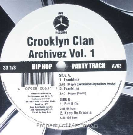 Primary image for Archivez Vol. 1 [Vinyl] Crooklyn Clan