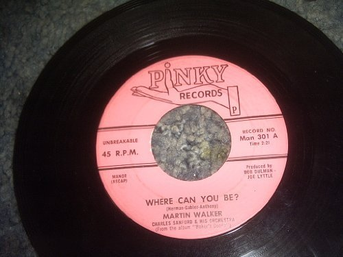 Primary image for Where CAN YOU Be-love Is Everything 45 Rpm Record [Vinyl] MARTIN WALKER