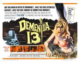 DEMENTIA 13 (1963) - Classic Horror B-Movie - Buy 2 DVD's, Get 1 FREE!!! - $7.49