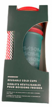 Starbucks 2019 Holiday Christmas Winter Reusable Cold Cups 5 pack w/ Straws NEW - $32.00