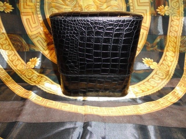 Primary image for atoll cigar case in Black Croc new without the original box