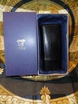 Andre Garcia Rugato Black  Lizard Skin  leather cigar case - $85.00