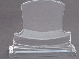 Hand Cut glass  trophy /  award for etching Top Hat - $45.54