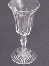 Cut Glass sherry glass Antique colonial stems Crystal - $13.10