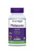 Natrol Extra Strength Strawberry Melatonin Fast Dissolve Tablets 5mg, 90... - $9.89