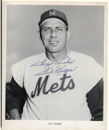 GIL HODGES, NEW YORK METS, Autographed Photo. Nicely signed. - $544.50