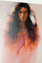 Early Morning Ozz Franca Ltd. Ed Print Signed Numbered Native American Lady - $59.99