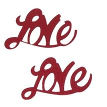 Confetti Word Love Red 14 gms tabletop confetti bag FREE SHIPPING - $3.95+