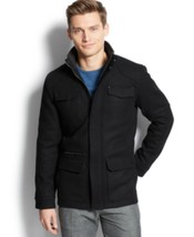 Calvin Klein Mens Basic Wool Blend Four Pocket Jacket  Black Size S M L ... - $124.98