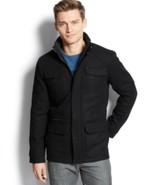 Calvin Klein Mens Basic Wool Blend Four Pocket Jacket  Black Size S M L ... - $124.98