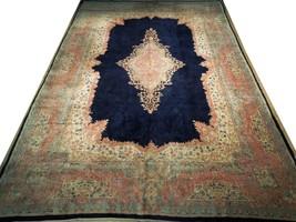 11x17 Navy Blue Handmade Open Field Durable Fine Original Persian Rug image 1