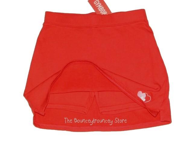 NWT Gymboree Valentine's Day Red Heart Skort Skirt Sz 7