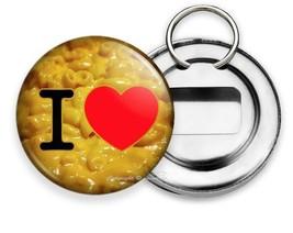 Funny Quote I Love Macaroni Mac And Yellow Cheese Heart Soda Beer Bottle Opener - $12.49