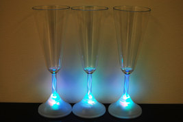 4 Pack 8 Mode Color Changing LED Champagne Glass - $18.95