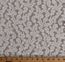 """Ivory Open Lace with Swirl Design Slight Sheen 60"""" Fabric by the Yard D171.12 - $9.95"""