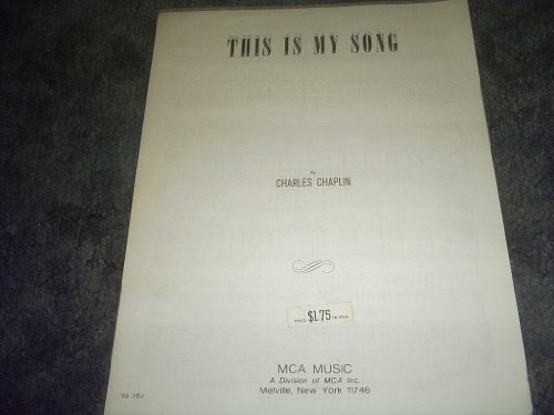 Primary image for This Is My Song Sheet Music (A COUNTESS FROM HONG KONG) [Sheet music] by CHAR...