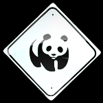 "MINI MINIATURE  CUTEZ PANDA  SIGNS METAL 8"":"
