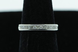 Art Nouveau Style 14K White Gold 17 Channel Set Diamond Band (Size 4 5/8) - $485.00