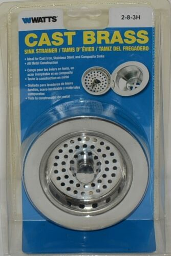 Watts Cast Brass Sink Strainer Stainless Steel Product Number 283H