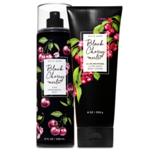 BATH & BODY WORKS Black Cherry Merlot Body Cream + Fine Fragrance Mist Set - $27.53
