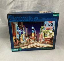 2000 Piece Buffalo Games Jigsaw Puzzle Times Square New York NY w Bonus Poster - $28.01