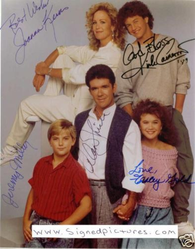Primary image for GROWING PAINS CAST SIGNED AUTOGRAPHED RP PHOTO ALL 5 COMEDY TV SHOW ALAN THICKE