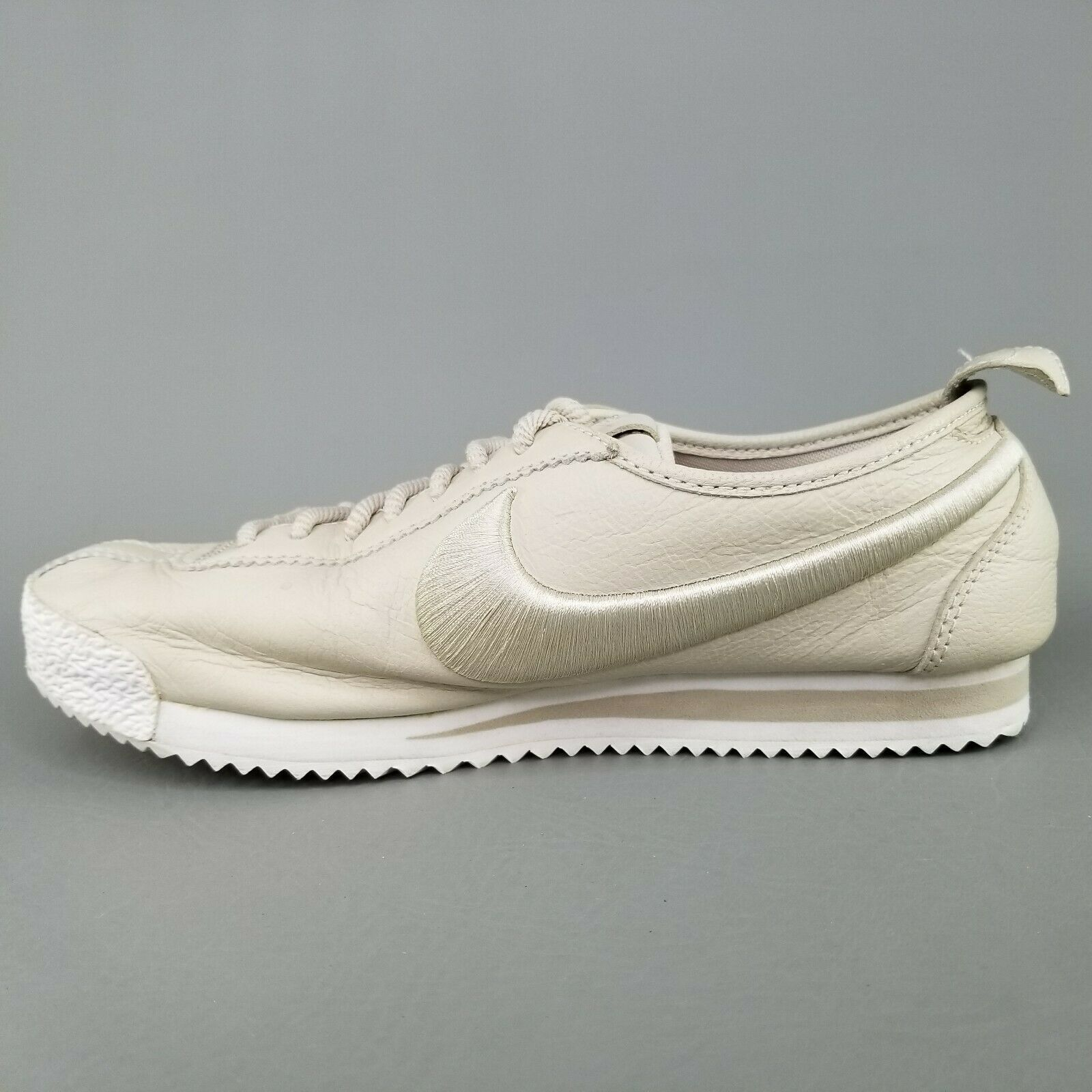 Nike Cortez 72 SI Leather Shoes Womens Size 8 Athletic Sneakers Tan White