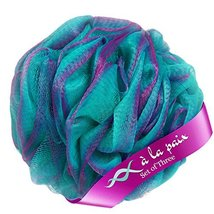 Loofah Bath Sponge XL 70g Set of 3 Tropical Colors by À La Paix -Soft Exfoliatin image 8