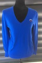 Hollister Womens  Blue Sweater  Pullover V-Neck Cotton Blend Size Medium - $14.98