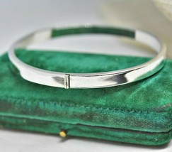 Vintage Sterling Silver Bracelet Mirror polished Art Nouveau Art Deco #O512 - €43,08 EUR