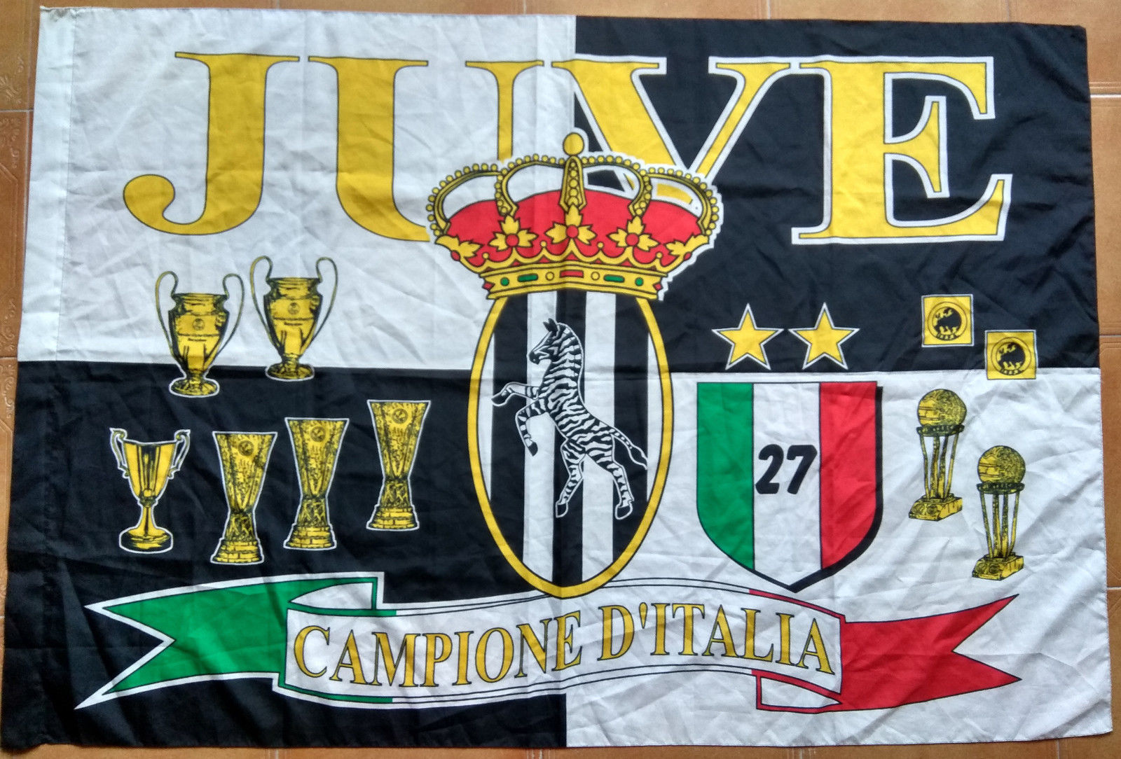 810be282f2f354 Juventus Flag Vintage Juve 27 Campione D' and 50 similar items