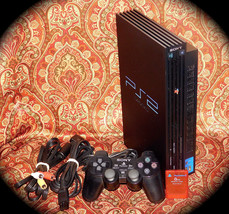 PlayStation 2 PS2 Fat Console Game System Complete PS2 SCPH-39001 + MEMO... - $56.09