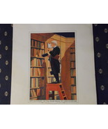 Leary's Old Book Store, 100th Anniversary, The Book Worm Print circa 1950 - $50.00