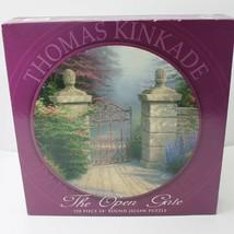 "Thomas Kinkade  The Open Gate  Round Jigsaw Puzzle  750 Piece 24"" Sealed - $16.00"