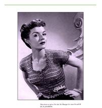 1950s Fancy Top with Scallop Edging Ribbon Blouse - Knit pattern (PDF 7433) - $3.75