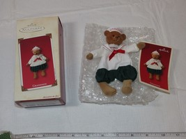 Grandson Hallmark Keepsake Ornament Christmas Fabric and Handcrafted 2002 - $22.76