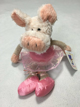 NWT Manhattan Toy All Dressed Up Pink Ballerina Plush Pig Piglet Stuffed Animal - $49.99