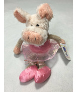 NWT Manhattan Toy All Dressed Up Pink Ballerina Plush Pig Piglet Stuffed... - $49.99