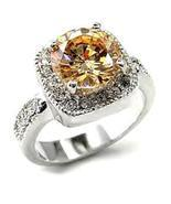 Ladies Russian CZ Sparkling Champagne Ring - $40.00