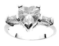 Pam ss heart ring  05814