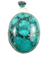 Large Natural Oval of Santa Rosa Turquoise Ster... - $150.72