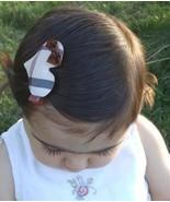 Set of 4 Soft Nova Check Plaid Hair Clips Barrettes Cat Mouse Heart Girl... - $11.29